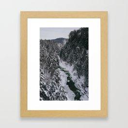 Winter in Vermont Framed Art Print