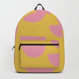 Petals (Pink on Mustard) Backpack
