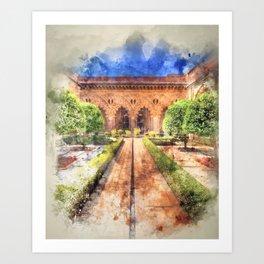 Aljaferia Moorish Palace Garden Art Print