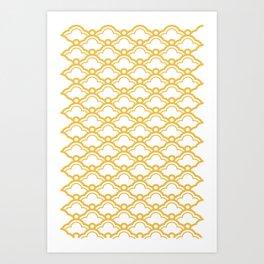 Matsukata II Mustard Art Print