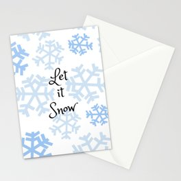 Let it Snow Snowflakes Stationery Cards