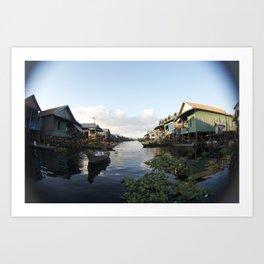 The Venice of Cambodia (Cambodia, Tonle Sap lake & Travel)  Art Print