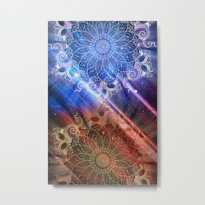 Mandala - Mighty fire & ice Metal Print