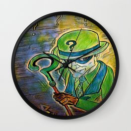 Riddle of herb Wall Clock