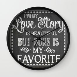 Love Story Wall Clock