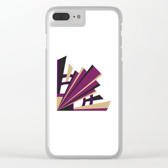 Art Deco Levels In Purple Clear iPhone Case