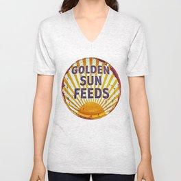 Golden Sun Feeds Unisex V-Neck
