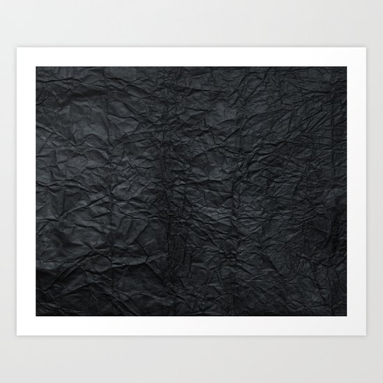 Black paper Art Print