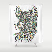 smoking Shower Curtains featuring Smoking by mary wong ting fung