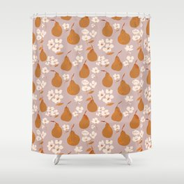 Fall Pears Shower Curtain