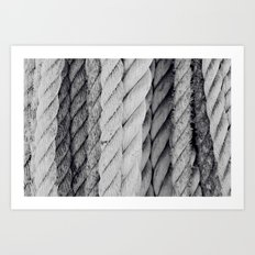 Ropes Black and White Nautical Art Print