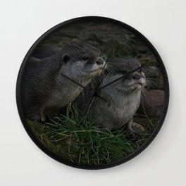 Otter Pair Wall Clock