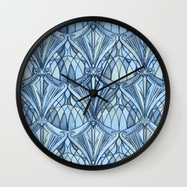 View From a Blue Window Wall Clock