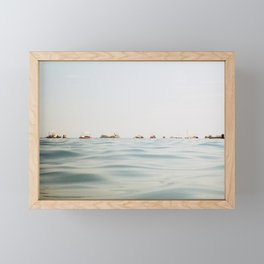 Submerged in the Waves Framed Mini Art Print