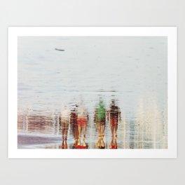 beach stories Art Print
