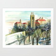 February Campus Art Print