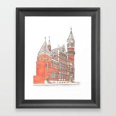 NYC Jefferson Market Library Framed Art Print