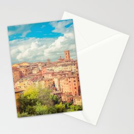A View of Siena Italy Stationery Cards