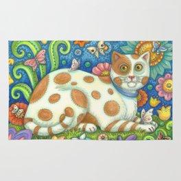 PUSSYCAT O PUSSYCAT - Susan Brack Folk Art Feline Rug