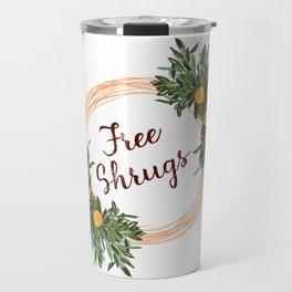 Free Shrugs spring summer wreath Travel Mug