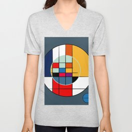abstract art geometric Unisex V-Neck