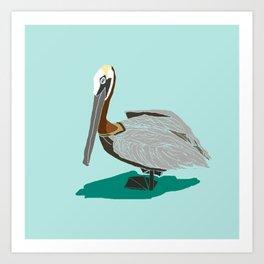 Mr. Pelican Kunstdrucke