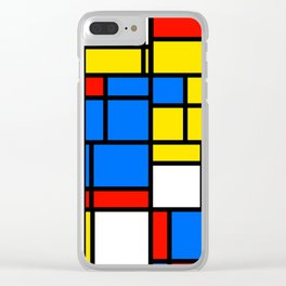Mondrian Style Clear iPhone Case