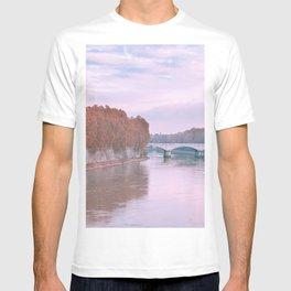 Sunset on the Bridge   Rome, Italy   Europe Travel Photography  T-shirt