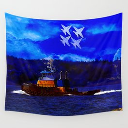 Smoke Over Puget Sound Wall Tapestry