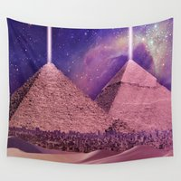 egypt Wall Tapestries featuring Hipsterland - Egypt by Alejo Malia