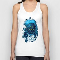 diver Tank Tops featuring SMILING DIVER by ADAMLAWLESS