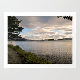 Lake Before Dusk Art Print