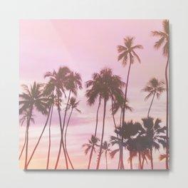 Retro Hawaiian Sunrise Metal Print