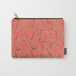 mid-century coral swirls Carry-All Pouch