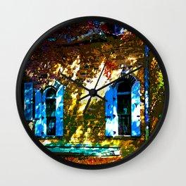 Secret Garden Castle Windows Wall Clock