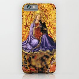 "Fra Angelico (Guido di Pietro) ""Madonna of Humility with Angels"" iPhone Case"