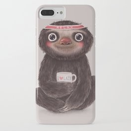 Sloth I♥lazy iPhone Case