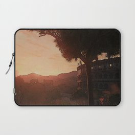 Sunset on ancient Rome Laptop Sleeve
