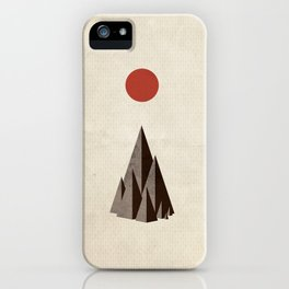 Minimal Mountains iPhone Case