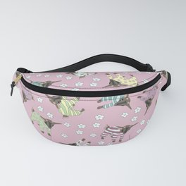 Pajama'd Baby Goats - Pink Fanny Pack
