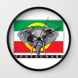 Montagnard Flag Wall Clock