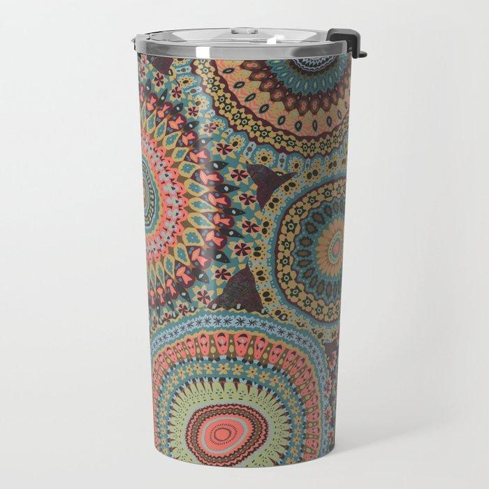 Boho Patchwork-Vintage colors Travel Mug