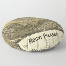 Aerial View of Mount Pleasant, Pennsylvania (1900) Floor Pillow
