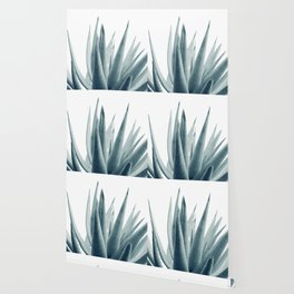 Agave Blue Vibe #1 #tropical #decor #art #society6 Wallpaper