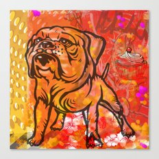 French bulldog pop art Canvas Print