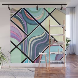 Abstract Cream Geometric Pattern | Pastel | Contemporary Design | NEW Wall Mural