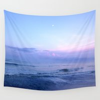 moonrise Wall Tapestries featuring Moonrise by miranda stein