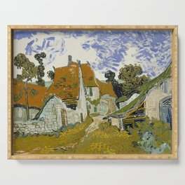 Vincent van Gogh - Street in Auvers-sur-Oise (1890) Serving Tray