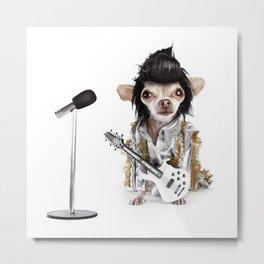 Elvis Chihuahua Metal Print