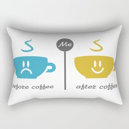 Before and after coffee #society6 #decor #buyart #artprint Rectangular Pillow